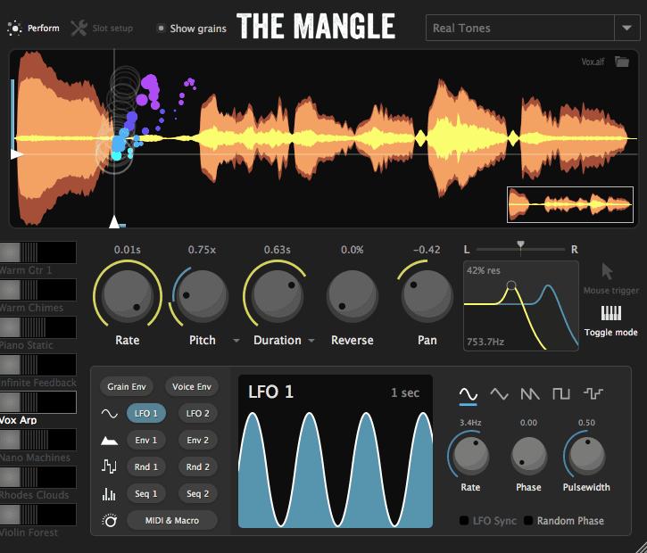 Sound Guru: The Mangle - Granular Synthesizer Plugin